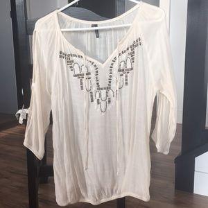 Boho ivory blouse